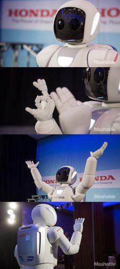 Honda's humanoid robot, ASIMO.