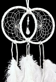 "White Soul Connection Double Dream Catcher - 4"" hoops for this one $28.99 This site has BEAUTIFUL items!!"