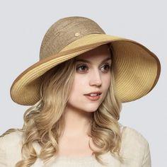 Fashion wide brim straw hat for women UV summer sun visor hat removable