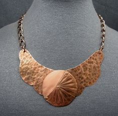 copper jewelry, copper necklace, Roman jewelry, bib necklace, copper bib, collar necklace, Avant garde jewelry, brutalist necklace, mom gift