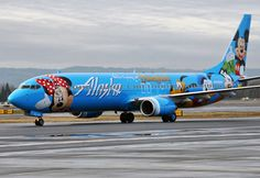 Alaska Airlines ...once again..painting the sky!!