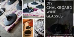 DIY Chalkboard Wine Glasses | step by step guide on www.theweddingbyjen.com