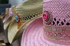 Ibiza style hats. Design by Kathy