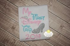 This adorable shirt will be perfect for your little princess to wear on her first trip to Disney! Any color combinations can be done!