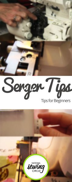 How to Use a Serger: Tips for Beginners ZJ Humbach takes you through the different parts of a serger and shows you the many different ways you can use it. She also shares her tips on where you should buy your serger and why, as well as whether you should consider a 3-thread, 4-thread, 5-thread, or even an 8-thread machine. http://www.nationalsewingcircle.com/video/how-to-use-a-serger-tips-for-beginners-008029/?utm_content=buffer60498&utm_medium=organic&utm_source=pinterest&utm_campaign=A220…