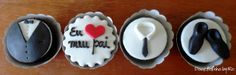 Doce Bolinho by Ro Cupcakes For Men, Fondant Cupcakes, Cupcake Cakes, 30th Birthday Cupcakes, 30th Birthday Gifts, My Dream Cake, Fathers Day Cake, Dad Day, Cake Pops