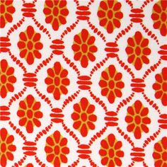 white flower fabric floral print clementine Michael Miller - Dots ...