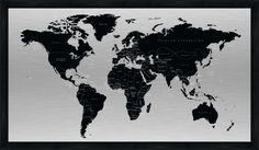 World map Concrete art. As shown, gray. [World map] - BoConcept Art Concret, Concrete Art, Boconcept, Site Master, Mo Design, Orangutan, Contemporary Fashion, Contemporary Design, Decoration