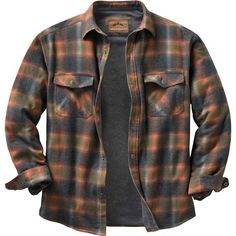High quality construction and detail make this insulated flannel a standout Legendary® shirt jac. Features a 100% cotton yarn dyed plaid, cotton/poly blend thermal lining in the body and smooth lined quilted sleeves. Full poly fill insulation for extra warmth. Signature Buck snaps and embroidery. - mens clothing sale, mens clothing outlet, mens clothing online stores
