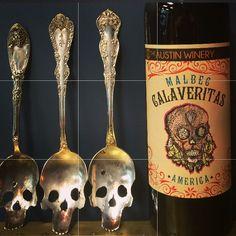 #austin #wine #calaveritas #vintagesilver #skullart #atx #malbec #winery #theaustinwinery