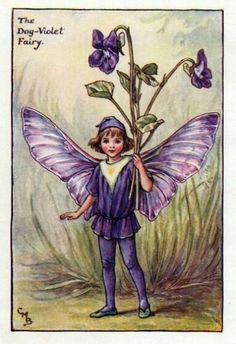 FLOWER FAIRIES/BOTANICALS: The Dog-Violet Fairy; This is an original vintage Cicely Mary Barker Flower fairies colour print. It is not a modern reproduction, approximate size x x inches Cicely Mary Barker, Elfen Fantasy, Fantasy Art, Flower Fairies, Spring Fairy, Vintage Fairies, Beautiful Fairies, Fantasy Illustration, Fairy Art