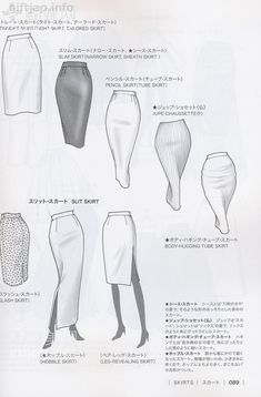 Japanese book and handicrafts - Guid to Fashion Design by bunka fashion coollege Fashion Design Sketchbook, Fashion Design Drawings, Fashion Sketches, New Fashion Clothes, Fashion Art, Vintage Fashion, Fashion Hacks, Curvy Fashion, Modest Fashion