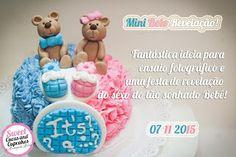Sweet Cucas and Cupcakes by Rosângela Rolim: Mini Bolo Revelação