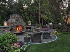 Cheminée en pierre fonction gril – l'accrocheur dans le jardin
