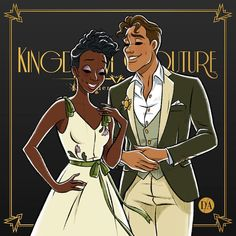 Tiana and Naveen are giving us a perfect green fantasy for a stroll in New Orleans 💚 Tiana And Naveen, Disney Princess Tiana, Disney Princesses And Princes, Pocket Princesses, Princesa Disney, Princess Art, Princess Sketches, Prince Naveen, Princess Style