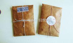 Cute alternative to the envelopes Antique Paper Envelope / Kraft Paper Envelopes by MiniatureSweet Letter Stationery, Stationery Paper, Paper Envelopes, Kraft Envelopes, Cheap Gift Bags, Mail Gifts, Shipping Envelopes, Diy Envelope, Postcard Invitation