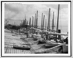 """Lugger's landing"", New-Orleans,                                                                                                                                          Louisiana, 1906"