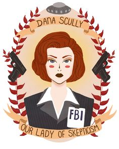 Dana Scully Art Print. Kind of the greatest thing I have seen this week. Xfiles forever!