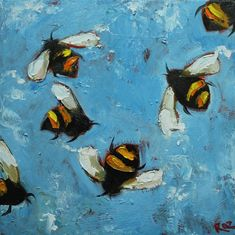 Bumblebees by RozArt on Etsy: http://www.etsy.com/shop/RozArt