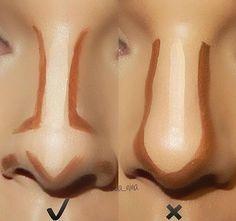 afinar o nariz   (certo e errado):