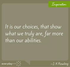 #quotes #choices #abilities #JKRowling