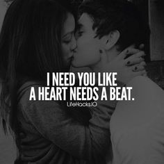 I need you like a heart needs a beat Love quotes, relationship quotes, romantic words, words of wisd Cute Love Quotes, Soulmate Love Quotes, Couples Quotes Love, Love Quotes For Her, Love Yourself Quotes, Quotes For Loved Ones, Beauty Quotes For Her, Stay With Me Quotes, Love For Her