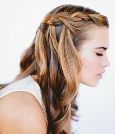 waterfall with curl