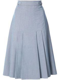 Saia Evasê - Moda Online : Compre Gabriela Hearst Saia midi com pregas. Skirt Outfits, Dress Skirt, Casual Outfits, Skirt Pleated, Midi Skirts, Modest Fashion, Hijab Fashion, Fashion Dresses, Jumpsuits For Women