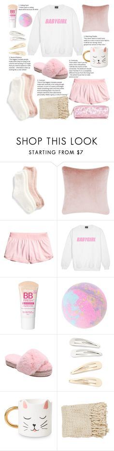 """#PolyPresents: Stocking Stuffers"" by rita-kumiho ❤ liked on Polyvore featuring Lemon, Tom Dixon, Maybelline, Kitsch, contestentry and polyPresents"