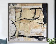 Oversize Abstract Painting On Canvas Beige Painting On Canvas Modern Painting Abstract Oil Painting On Canvas Wall Painting For Living Room Abstract Oil, Abstract Canvas, Living Room Canvas, Beige Art, Acrylic Painting Canvas, Photo Art, Vintage World Maps, Moose Art, Artsy