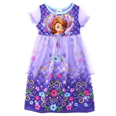 Disney Junior Sofia the First Girls Fantasy Gown Nightgown. Great for Easter! www.YankeeToyBox.com #yankeetoybox #ytb #disney #disneyjunior #sofiathefirst #easter