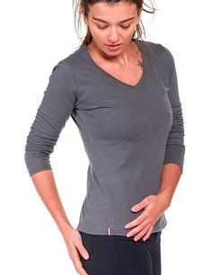 Découvrez la collection de t-shirt Uni 100% bio made in France pour Femme a108bd337de0