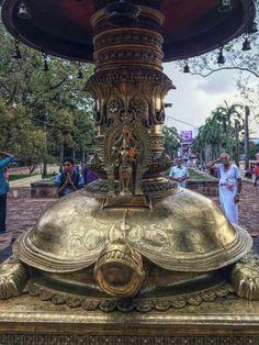 Vishnu, Kurma avatar at the base of Oil lamp tower Vadakkunnathan Shiva Temple, Thrissur, Kerala, India. Krishna Temple, Hindu Temple, Lord Krishna, Om Namah Shivaya, Indian Temple Architecture, India Architecture, Ancient Architecture, Temple India, Lord Shiva Family
