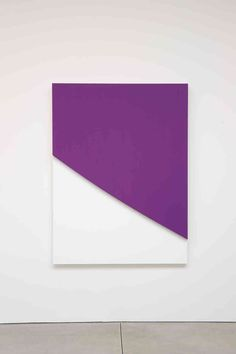 Ellsworth Kelly,  Purple Curve in Relief, 2009