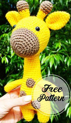 Free and Sweet Amigurumi Crochet Giraffe Pattern : Amigurumi crochet toy giraffe Pattern! Its free! Abbreviations: R = row mc = magic circle ch = chain sc = single crochet st = stitch sl st = slip stitch inc = 2 s Chat Crochet, Crochet Patterns Amigurumi, Amigurumi Doll, Crochet Toys, Free Crochet, Crochet Gratis, Amigurumi Minta, Amigurumi Free, Easy Knitting Projects