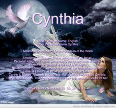The meaning of the name - Cynthia
