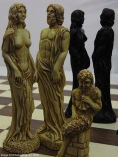 Gods of Mythology Plain Theme Chess Set