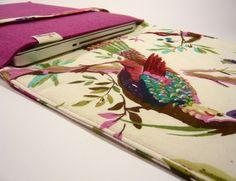 Notebook-Sleeves - Laptop-Tasche :: Weißer Paradiesvogel von marengu - ein Designerstück von marengu bei DaWanda