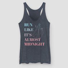 315ec6e2e0 Women's Cinderella Run Like It's Almost Midnight Tank Top - (Juniors') Navy  M, Blue