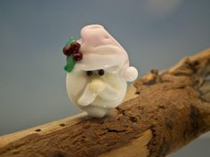 lampwork santa face bead sra by DeniseAnnette on Etsy, $11.00