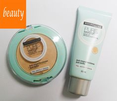 uma dupla ótima: base e pó facial pure make-up/maybelline