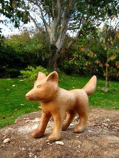 Wolf-Skulptur aus Lindenholz. Bestrafung von SylvestrisCraftworks