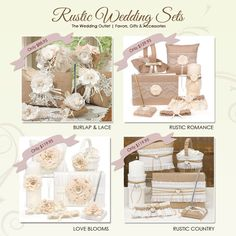 Rustic Wedding Themed Sets for the Ceremony and Reception | from The Wedding Outlet on BrendasWeddingBlog.com