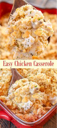 Easy Chicken Casserole Recipe | Grace Family Recipes #chicken #chickenfoodrecipes #casserole