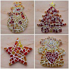 Vánoční tvoření s dětmi - Mozaika - návod