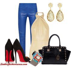 """""""Rockstud & Leather"""" by www.ladiesfashionsense.com"""