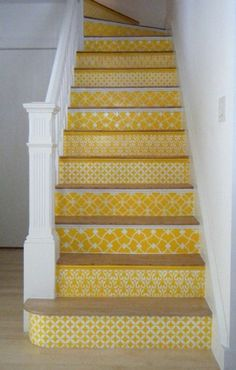 such a cool idea for stairs