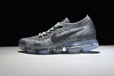 New arrival Nike VaporMax Max Flyknit Air Max 2017 Cool Grey 849558 004 Men's Running Shoes 849558 004