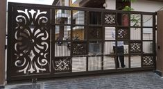 House Main Gates Design, Front Gate Design, House Design, House Front Gate, Front Gates, Window Design, Door Design, Modern Steel Gate Design, Compound Wall