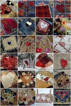 Heart Inspiration by Jude Hill Sewing Crafts, Sewing Projects, Denim Crafts, Textiles, Fabric Patch, Fabric Jewelry, Textile Artists, Heart Art, Hand Stitching